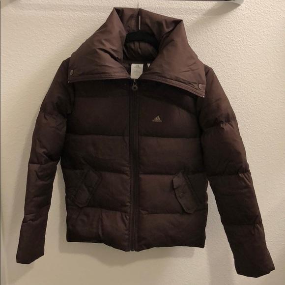 ddcd51d46 Adidas high collar down puffer jacket